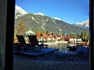 Outside Pool through window HDR Sample Photo Picture by HDR Android App Camera+ on a Samsung Galaxy S II (S2)