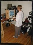 (A) standing computer desk ergonimic