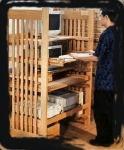 (B) standing computer desk ergonimic