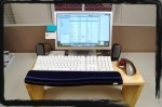 (H) standing computer desk ergonimic