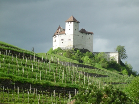 p1 dark middle ages castle without a moat - unconquerably and impregnable - burg gutenberg balzers/liechtenstein