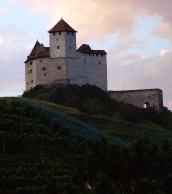 p2 - dark middle ages castle without a moat - unconquerably and impregnable - burg gutenberg balzers/liechtenstein