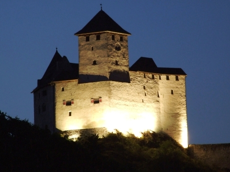p4 dark middle ages castle without a moat - unconquerably and impregnable - burg gutenberg balzers/liechtenstein