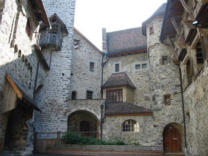 p7 - dark middle ages castle without a moat - unconquerably and impregnable - burg gutenberg balzers/liechtenstein - inner