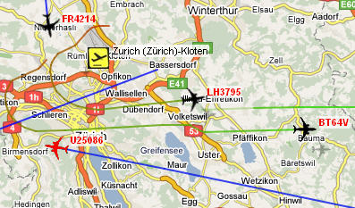 South Germany Watch Air Traffic Zurich Radar Google Maps Master Thesis