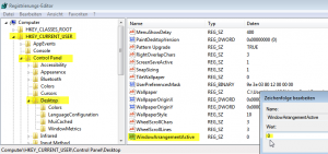 Annoying Windows 7 Docking Dialog Size - Changes in Registry