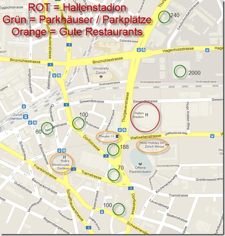 hallenstadion Zürich arkiermöglichkeiten und gute Restaurants