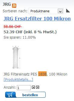 JRG Feinfilter 1838.100