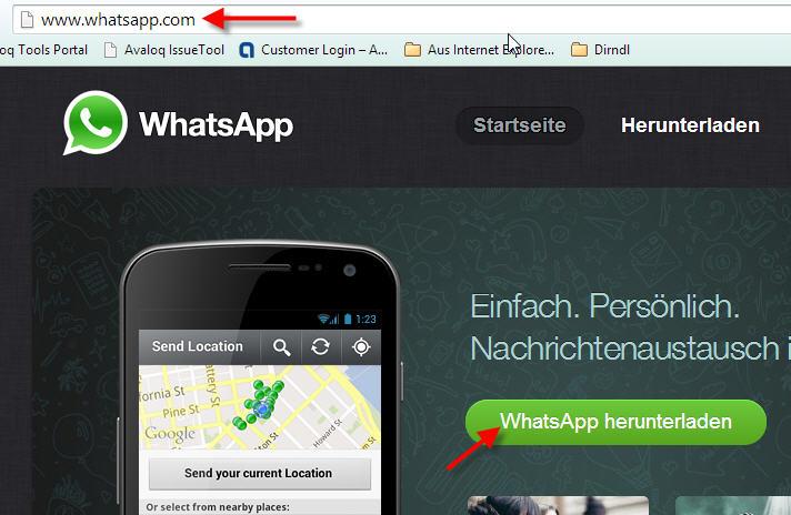 Whatsapp Xperia Z1/Z2: Whatsapp nicht kompatibel: direkter APK Download vom Hersteller